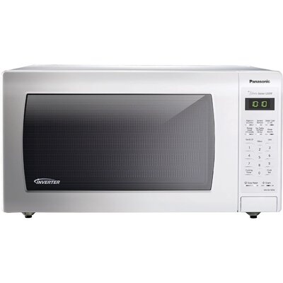 """22"""" 1.6 cu.ft. Countertop/Built-In Microwave with Genius Sensor and Inverter Technology Color: White"""