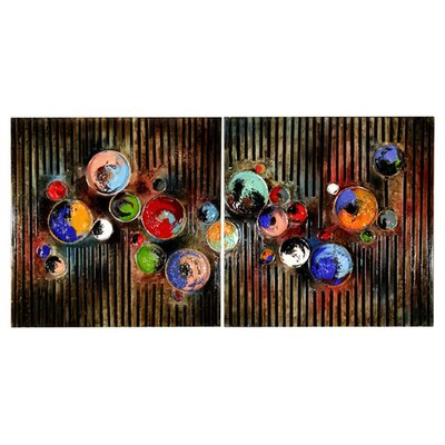 Home Essence Paint Pots Abstract Art Print on Canvas