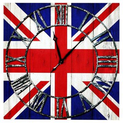 Home Essence Union Jack Canvas Wall Clock