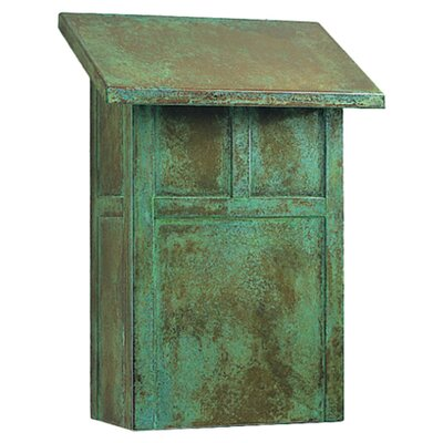 Arroyo Craftsman Mission Wall Mounted Mailbox with Rain Overhang