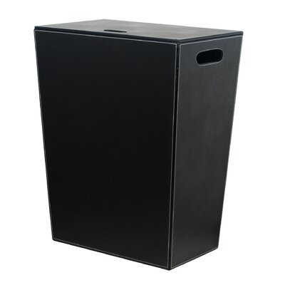 Complements Ecopelle Laundry Hamper Finish: Black