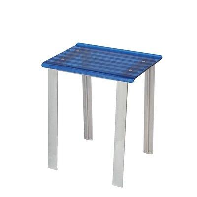 Leo Free Standing Shower Seat Finish: Blue