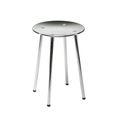 Complements Noni Bathroom Stool Finish: Chrome