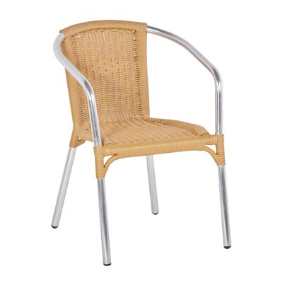 Cozy Bay Frappe Stacking Dining Arm Chair