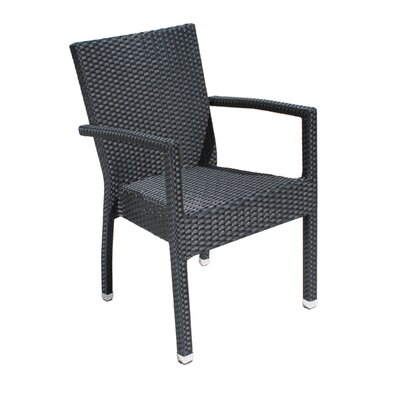 Cozy Bay Stacking Dining Arm Chair with Cushion