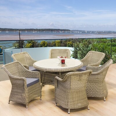 Cozy Bay Hampton 6 Seater Dining Set with Cushions