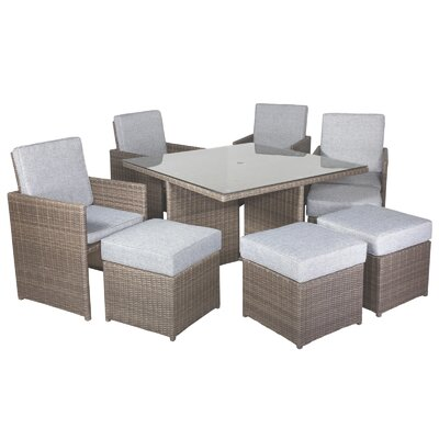 Cozy Bay Cube 8 Seater Dining Set