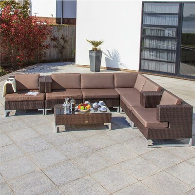 Cozy Bay Manhattan 6 Seater Sectional Sofa Set with Cushions