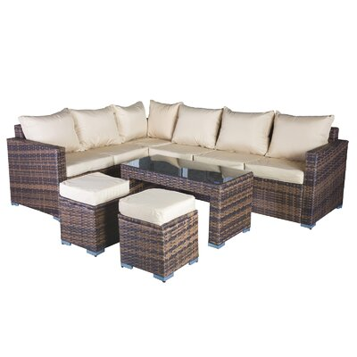 Cozy Bay Oxford 8 Seater Sectional Sofa Set