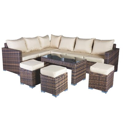 Cozy Bay Oxford 9 Seater Sectional Sofa Set