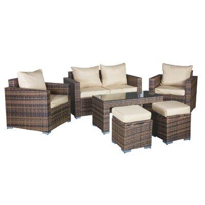 Cozy Bay Oxford 6 Seater Sofa Set