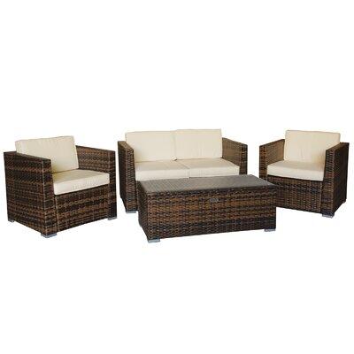 Cozy Bay Oxford 4 Piece Lounge Set