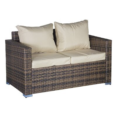 Cozy Bay Oxford 4 Seater Sofa Set with Cushions