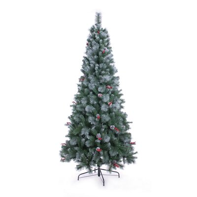 Home Essence Christmas Tree 2.10m (7ft) Frosted Virginia Pine