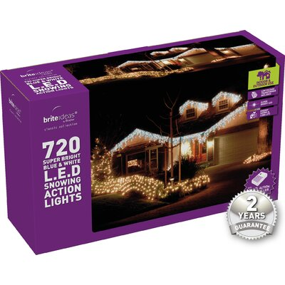 Home Essence LED Christmas 720 Light Icicle Light