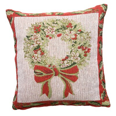 Home Essence Festive Tapestry Wreath Cushion Cover