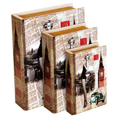 Home Essence Marilyn Storage Books (Set of 3)
