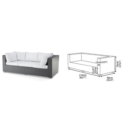 Home Essence Maestro 7 Seater Sectional Sofa Set with Cushions