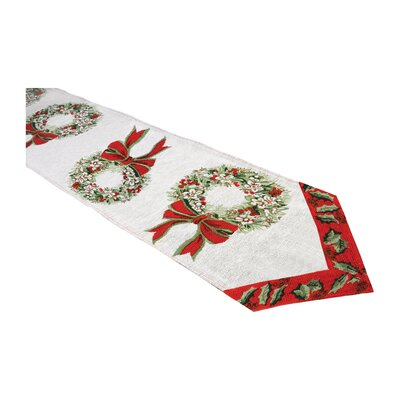 Home Essence Wreath Table Runner
