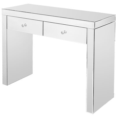 Home Essence Modal Mirrored Two Drawer Console Table