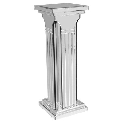 Home Essence Modal Tall Mirrored Column Pedestal