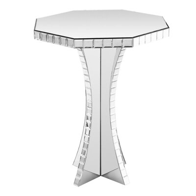 Home Essence Mirrored Side Table