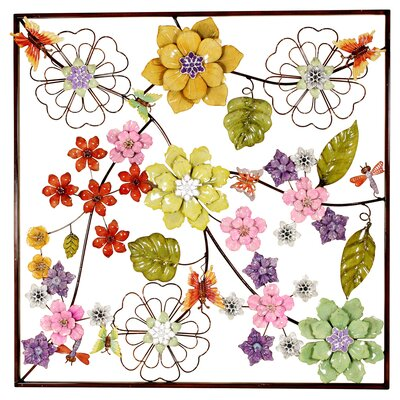House Additions Flowers Graphic Art Plaque