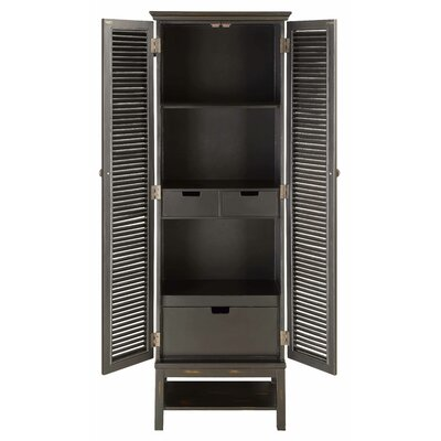 Ouellet Louvered Door 3 Drawer 2 Door Accent Cabinet