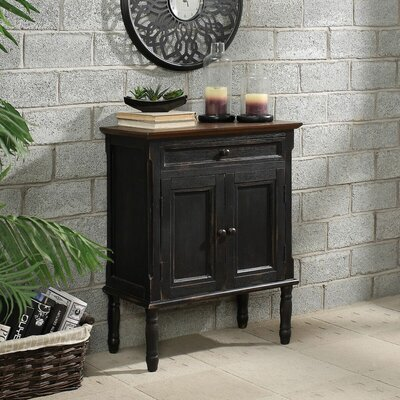 Garrett 2 Door Accent Cabinet Color: Black
