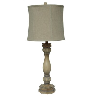 """Crestview Collection Colony Bay 36"""" H Table Lamp with Bell Shade"""