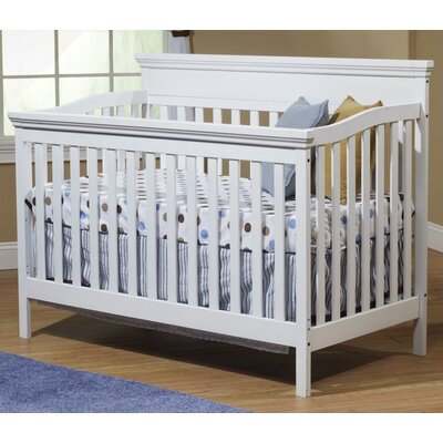 Katherine 4-in-1 Convertible Crib Color: White