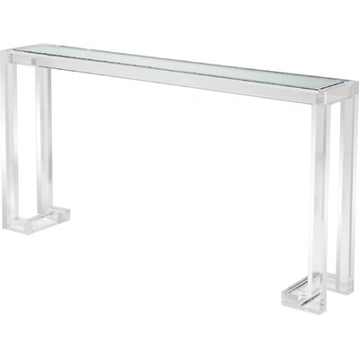 Ava Console Table Color: Clear