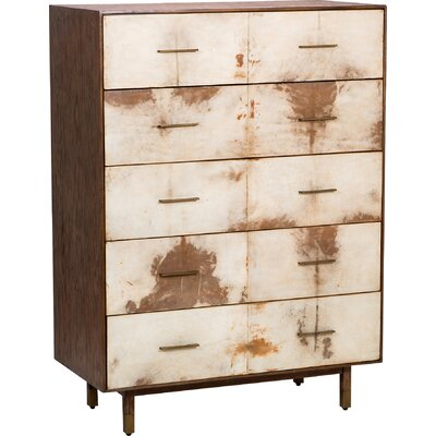 Sierra 5 Drawer Tall Chest Color: Natural