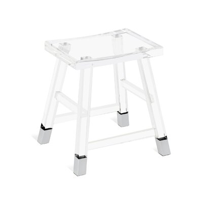 Reva Accent Stool Frame Color: Nickel