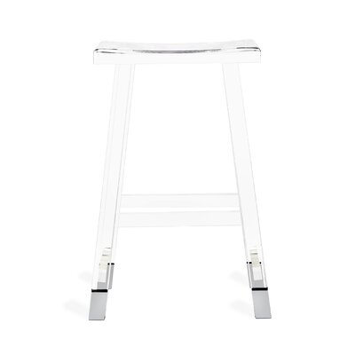 "Reva 27"" Bar Stool Color: Nickel"