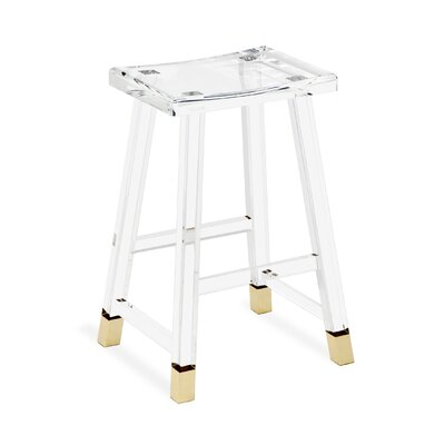 "Reva 27"" Bar Stool Color: Brass"