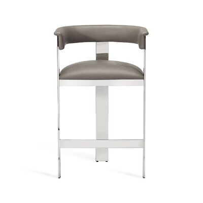 """Darcy 26"""" Bar Stool Upholstery: Fawn Taupe, Frame Color: Antique Bronze"""