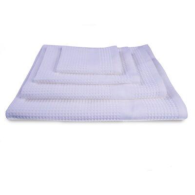 Waffle Resort 4 Piece 100% Cotton Towel Set