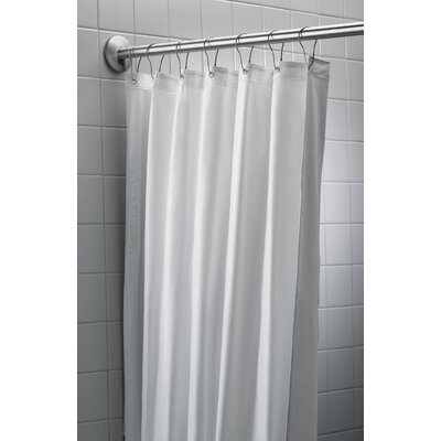 "Antimicrobial Nylon/Vinyl Shower Curtain Size: 72"" H x 42"" W"