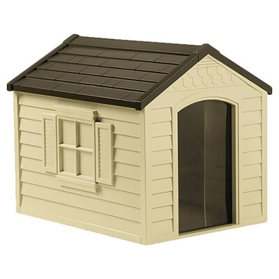 Deluxe Dog House in Tan & Mocha