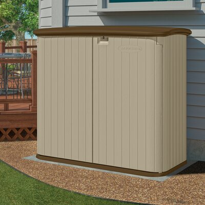 4 ft. 8 in. W x 2 ft. 8 in. D Plastic Horizontal Garbage Shed
