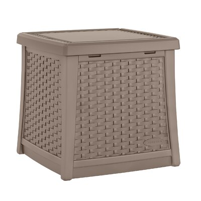 Cube 13 Gallon Resin Deck Box Color: Dark Taupe