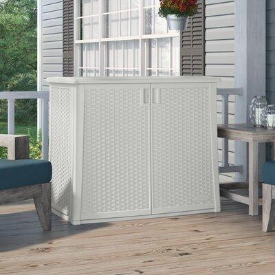 97 Gallon Resin Cabinet Color: White