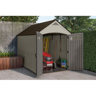 Blow Molded 7 ft. 5 in. W x 10 ft. 5 in. D Plastic Storage Shed