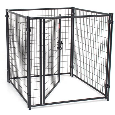 Lucky Dog Modular Welded Wire Kennel Kit Size: 4' H x 4' W x 4' L