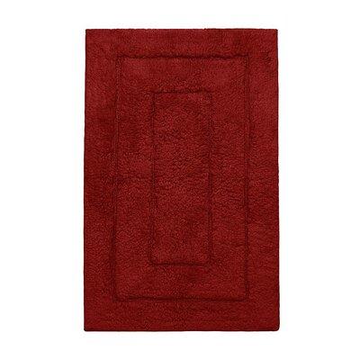 "Kassadesign Bath Rugs Size: 20"" H x 32"" W, Color: Garnet Red"