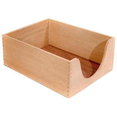 "Carver Wood Products, INC. Desk Tray, Wood, 5"" Deep, Letter, Oak"