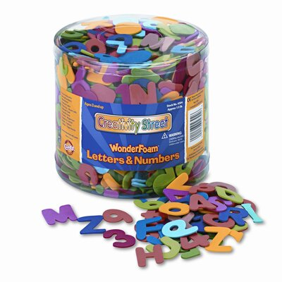 Creativity Street® Wonderfoam Letters and Numbers, 1/2-Lb. Tub, Approx. 1,500 Pieces