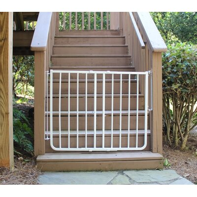 Stairway Special Outdoor Gate Color: White