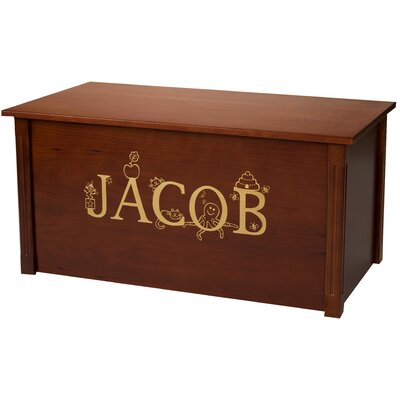 Dark Cherry Toy Box With Thematic Font Cedar Base: Yes